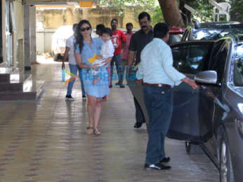 Kareena Kapoor Khan and Taimur Ali Khan spotted at play school in Bandra