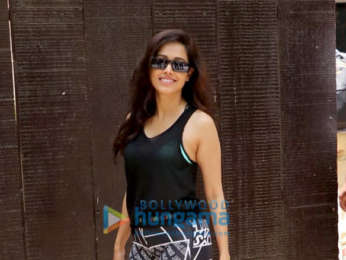 Nushrat Bharucha spotted at gym in Juhu
