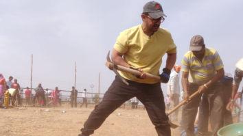On Maharashtra Day, Aamir Khan does Shramdaan at Satara district