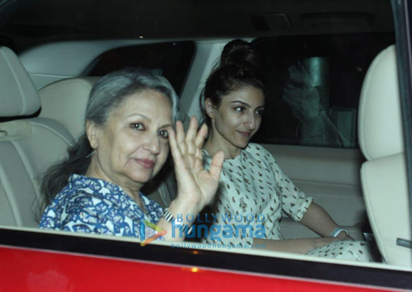 Photos Sara Ali Khan, Soha Ali Khan, Sharmila Tagore and Ibrahim Ali Khan spotted at Saif Ali Khan's house-01