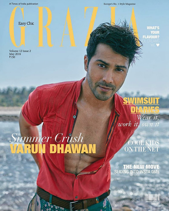 Varun Dhawan On The Cover of Grazia