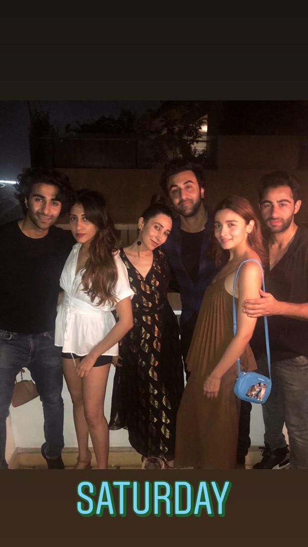 Amidst wedding rumours, Alia Bhatt parties with Ranbir Kapoor and his cousins including Karisma Kapoor [See photo]