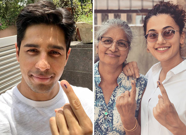 Lok Sabha Elections 2019: Sidharth Malhotra, Taapsee Pannu, Huma Qureshi and Swara Bhaskar vote in Delhi