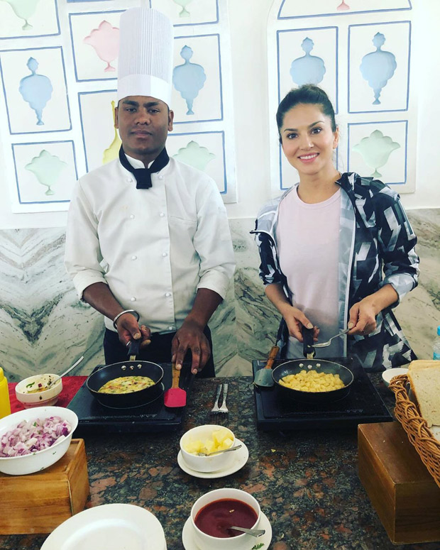 This photo of Sunny Leone cooking for her twin boys will remind you why moms are so special!