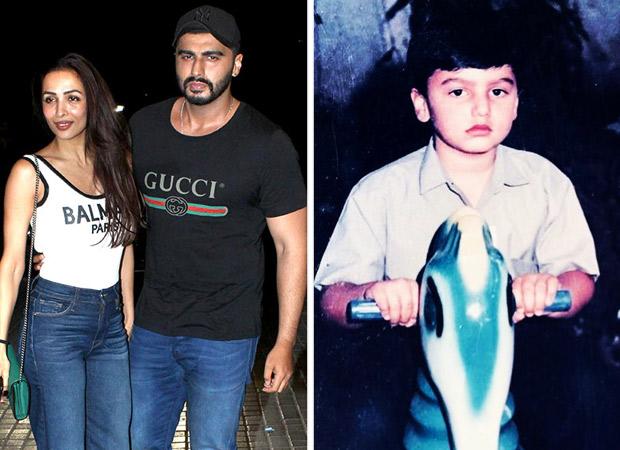 Arjun Kapoor shares a childhood photo of him riding a toy horse; Malaika Arora calls him 'grumpy'