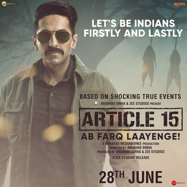 Ayushmann Khurrana starrer Article 15 to organize a special event to unveil unseen footages and special posters