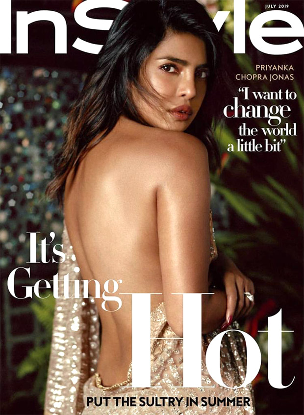 HOTNESS! Priyanka Chopra raises the temperature with her sultry backless saree look for InStyle cover