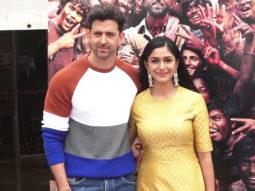 Hrithik Roshan and Mrunal Thakur spotted at Promo Shoot of film Super 30