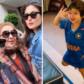 INDIA vs PAKISTAN: Taimur Ali Khan makes cute appearance in Team India jersey, mom Kareena Kapoor Khan & aunt Karisma Kapoor cheer for the team