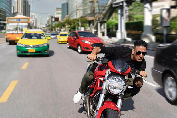 PHOTO: Akshay Kumar shoots bike stunts on the streets of Bangkok for Rohit Shetty's Sooryavanshi