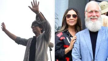 PHOTOS: Shah Rukh Khan greets massive crowd post shoot, Gauri Khan spends time with David Letterman