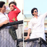 PHOTOS & VIDEOS: Shah Rukh Khan greets fans with AbRam Khan on Eid, American host David Letterman witnesses his stardom