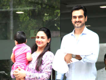 Photos: Esha Deol snapped with her new born baby at Hinduja Hospital in Khar