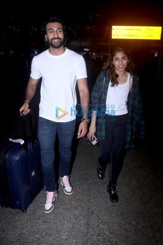 Photos: Meezaan Jaffrey, Sharmin Segal, Adah Sharma and Hiten Tejwani snapped at the airport