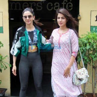 Photos: Rakul Preet Singh and Rhea Chakraborty spotted at Farmers' Cafe in Bandra