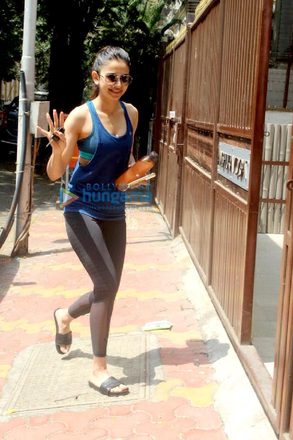 Photos Rakul Preet Singh snapped at the gym