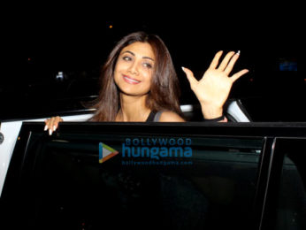 Photos: Shilpa Shetty snapped at Kromakay salon in Juhu