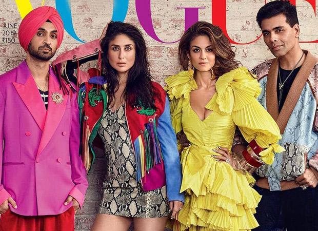 This Vogue magazine cover featuring Kareena Kapoor Khan, Diljit Dosanjh, and Karan Johar epitomized fashion!