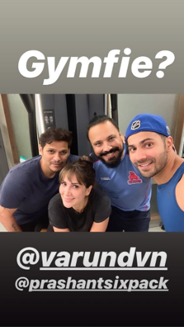 Woah! This photo of Varun Dhawan and Kim Sharma coincidentally bumping into each other in the gym has left us SURPRISED!
