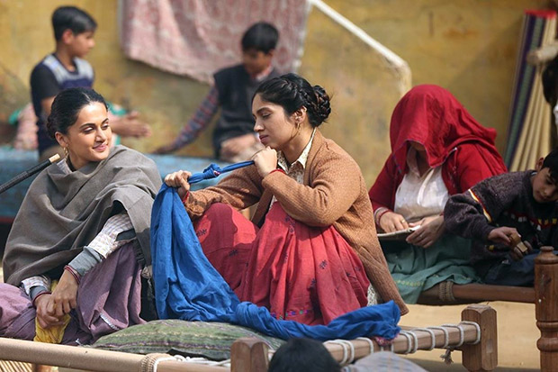 BTS: Taapsee Pannu and Bhumi Pednekar show us why they are perfect as Revolver Daadis in these photos from the sets of Saand Ki Aankh!