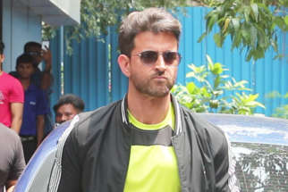 Hrithik Roshan spotted during launch of HRX Cult Fitness