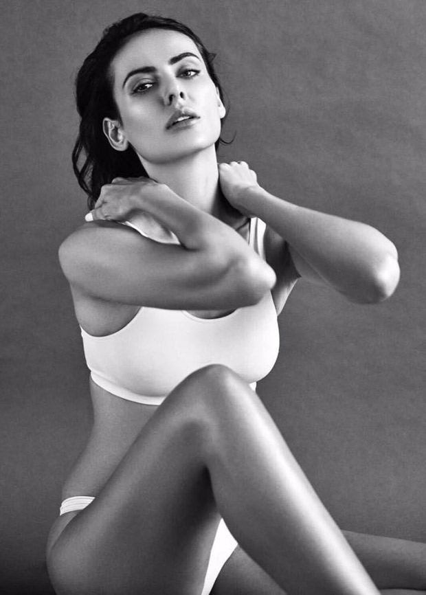Mandana Karimi scintillates in her latest black and white photoshoot