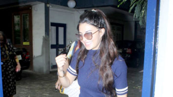 Photos: Jacqueline Fernandez spotted at a dubbing studio in Bandra