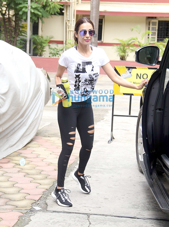 Photos: Malaika Arora spotted at the gym in Bandra
