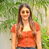 Photos: Pooja Hegde snapped at a dubbing studio in Juhu