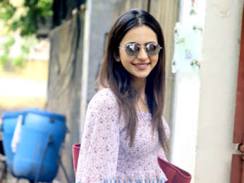 Photos: Rakul Preet Singh snapped at a dubbing studio in Juhu