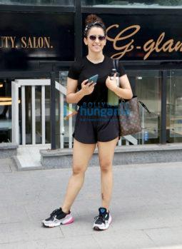 Photos: Sanya Malhotra snapped at I Think Fitness in Bandra