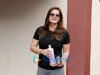 Photos: Zareen Khan spotted at the Pilates gym