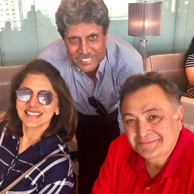 After Bollywood celebs, cricket legend Kapil Dev meets Rishi Kapoor and Neetu Kapoor in the U.S