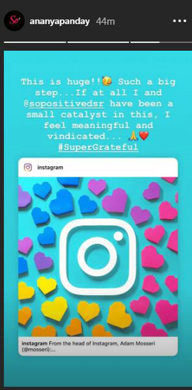 Ananya Panday's 'So Positive' initiative goes global as Instagram announces anti-bullying features