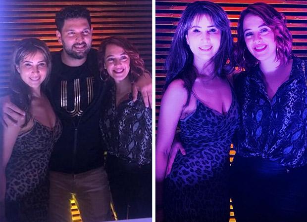 Inside Pics: Yuvraj Singh enjoys his retirement celebrations with wife Hazel Keech and ex-girlfriend Kim Sharma; Farhan Akhtar and Shibani Dandekar also attend the bash