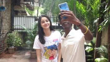 Ananya Pandey spotted at Riteish Sidhwani's office