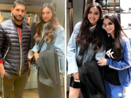 Deepika Padukone strikes a pose in London with British boxer Amir Khan and his wife Faryal in London