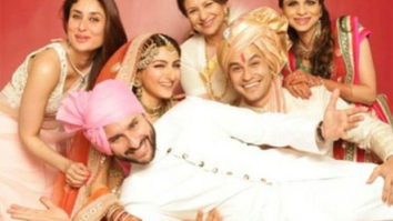 Kareena Kapoor and Saif Ali Khan are all smiles in this throwback picture from Kunal Khemmu and Soha's wedding