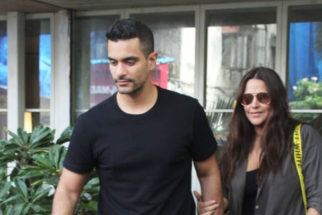 Neha Dhupia and Angad Bedi spotted at restaurant in Bandra (2)
