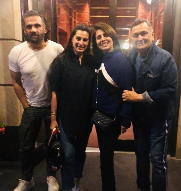 PHOTO ALERT: Suniel Shetty and Mana Shetty visit Rishi Kapoor and Neetu Kapoor in New York
