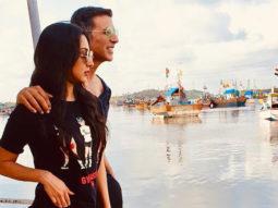 PHOTOS: Akshay Kumar and Kiara Advani strike a pose on a jetty while shooting for Laxmmi Bomb