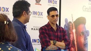 Photos: Akshay Kumar snapped promoting his film 'Mission Mangal'