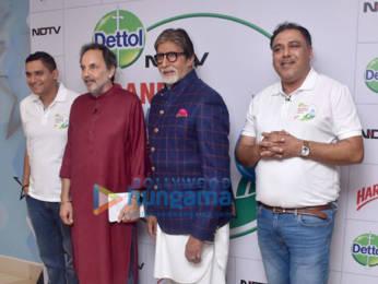 Photos: Amitabh Bachchan attends the launch of NDTV Dettol Banega Swachh India season 9