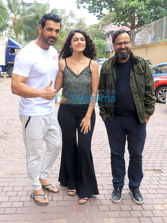 Photos: Cast of Batla House snapped during promotions at JW Marriott, Juhu