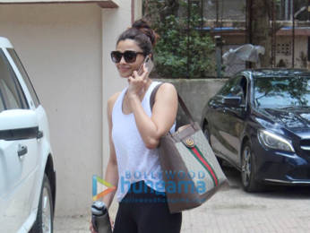 Photos: Pooja Hegde and Daisy Shah spotted at a Pilates studio