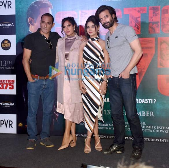 Photos Richa Chadda, Akshaye Khanna and others snapped at Section 375 trailer launch
