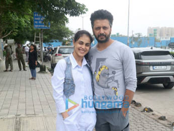 Photos: Riteish Deshmukh and Genelia D'Souza spotted at BKC
