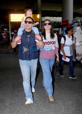 Photos: Saif Ali Khan and Kareena Kapoor Khan snapped at the airport