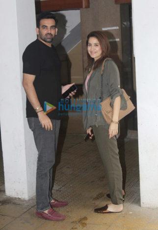 Photos: Zaheer Khan and Sagarika Ghatge snapped in Bandra