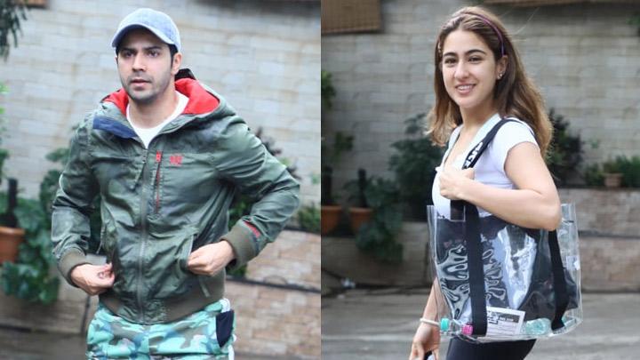 Sara Ali Khan & Varun Dhawan spotted at Dance classes